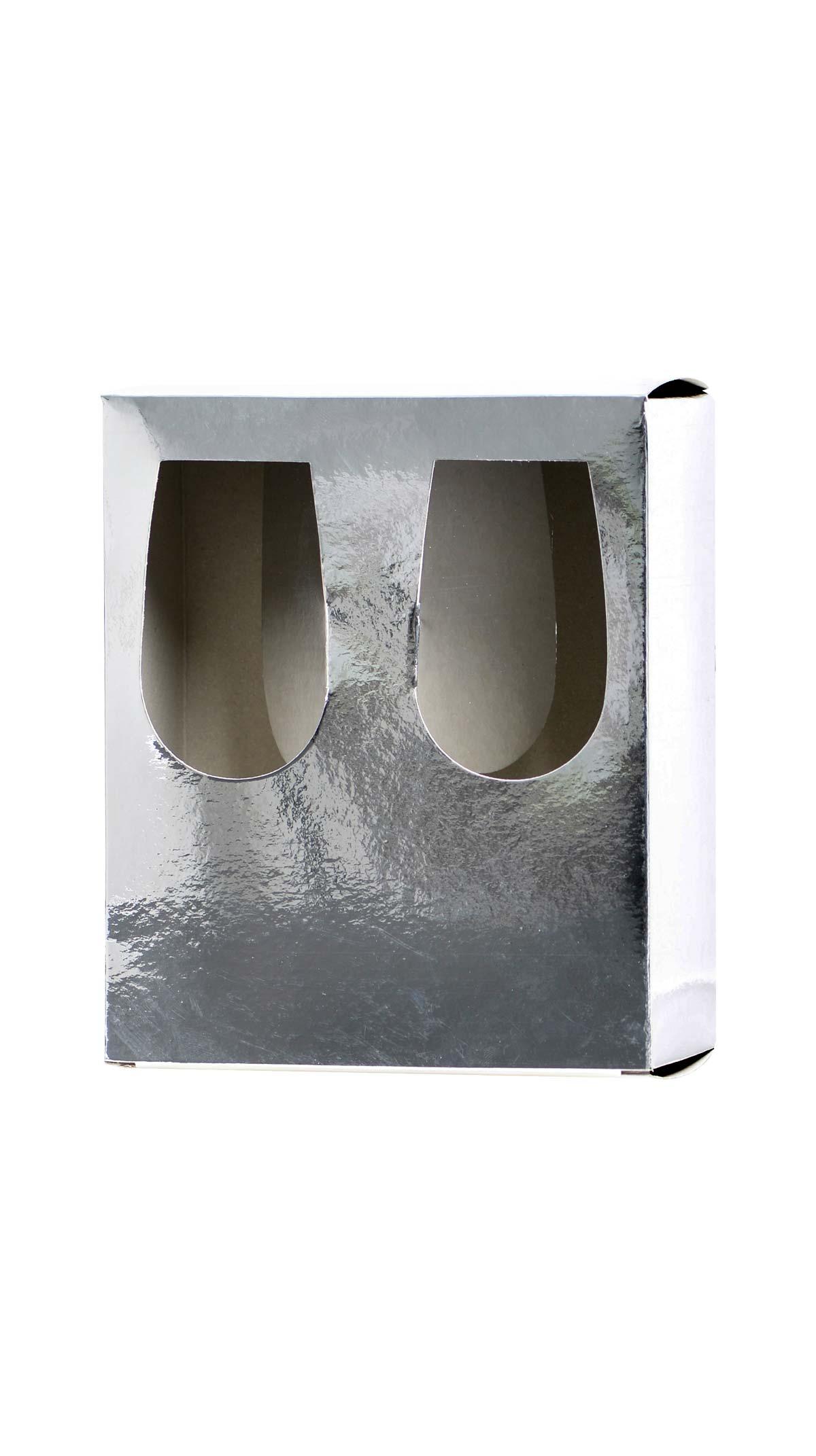 Estuche 2 catavinos Plata 15,5cl - Serigrafía Casbe